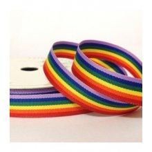 10mm Rainbow Grosgrain Ribbon 50m Bargain