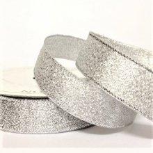 15mm silver metallic Ribbon 22M Bargain