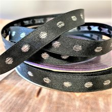 12mm Christmas Black -silver Dot 20M Clearance