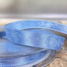 10mm Rose Satin Ribbon Blue - Clearance