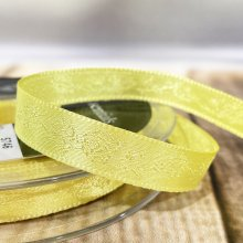10mm Rose Satin Ribbon Yellow - Clearance