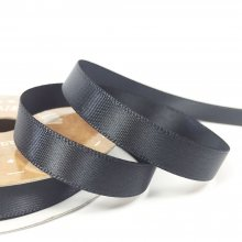 10mm Satin Ribbon Charcoal