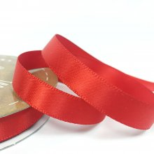 10mm Satin Ribbon Flame Red