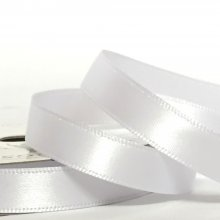 10mm Satin Ribbon Brilliant White
