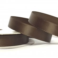 10mm Satin Ribbon Chocolate