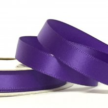 10mm Satin Ribbon Chocolate Purple