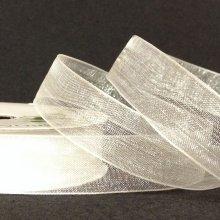 15mm Organza Ribbon Bridal White