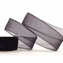 15mm Organza Ribbon Black