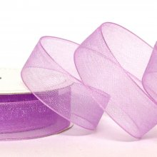 15mm Organza Ribbon Lilac