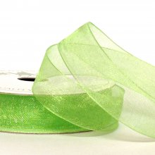 15mm Organza Ribbon Lime