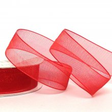 15mm Organza Ribbon Rouge