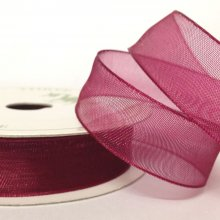15mm Organza Ribbon Wine