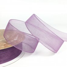 15mm Organza Ribbon Amethyst