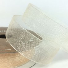 15mm Organza Ribbon Cream