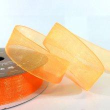 15mm Organza Ribbon Neon Orange
