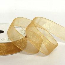 15mm Organza Ribbon Old Gold