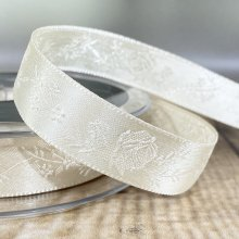 15mm Rose Satin Ribbon Biscuit - Clearance