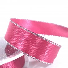 15mm Satin Ribbon Beauty with Silver Edge