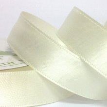 15mm Satin Ribbon Ivory