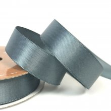 15mm Satin Ribbon Slate Grey