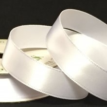 15mm Satin Ribbon Brilliant White
