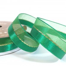 15mm Duo Shimmer Ribbon Emerald