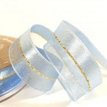 15mm Duo Shimmer Ribbon Light Blue