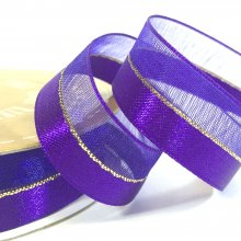15mm Duo Shimmer Ribbon Purple