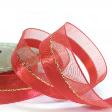 15mm Duo Shimmer Ribbon Red