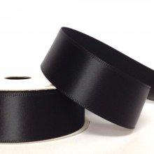 22mm Satin Ribbon Black