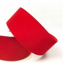 34mm Velour Ribbon Red