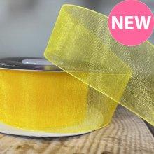 38mm Organza Ribbon Bright Yellow - 20m