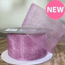 38mm Organza Ribbon Rosy Mauve - 20m