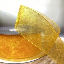 38mm Organza Ribbon Tangerine - 20m