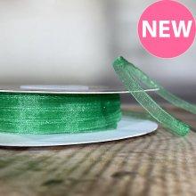3mm Organza Ribbon Emerald - 45m