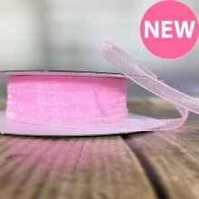 3mm Organza Ribbon Pink