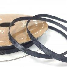 3mm Satin Ribbon Charcoal