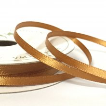 3mm Satin Ribbon Milk Chocolate