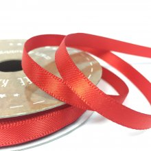 6mm Satin Ribbon Flame Red