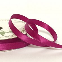 6mm Satin Ribbon Fuchsia