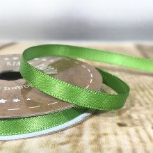 6mm Satin Ribbon Leaf