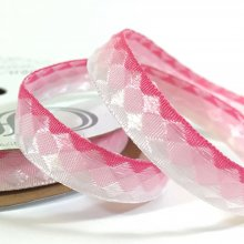 9mm Facets Ribbon Pink