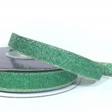 13mm Metallic Ribbon Green