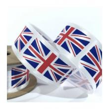 15mm satin union flag  ribbon - 100m