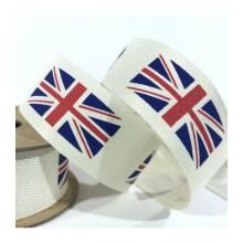 25mm  twill union flag ribbon 25m