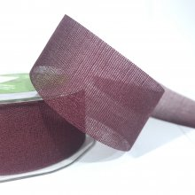 38mm Rayon Ribbon with sheer edge Plum