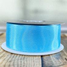 38mm Satin Ribbon Blue - Wired Edge - 20m