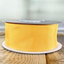 38mm Satin Ribbon Orange - Wired Edge - 20m
