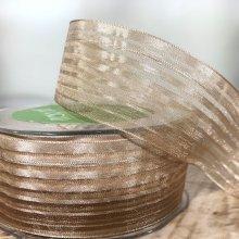 38mm Organza Stripe Ribbon Cappuccino