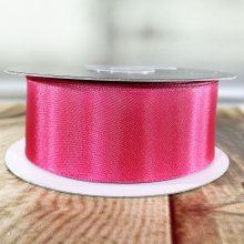 38mm Satin Ribbon Pink - Wired Edge - 20m